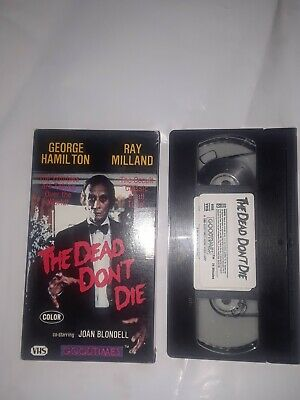 The Dead Don't Die 1986 VHS RARE Zombie Video, George Hamilton, Ray Milland