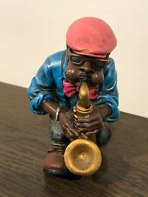 Jazz Band plaster cast figurines ornaments  approx 12 cm high