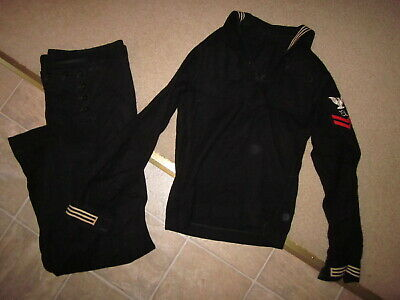 Vintage WWII US Navy USN top and trousers with dragon embroidery inside cuffs !!