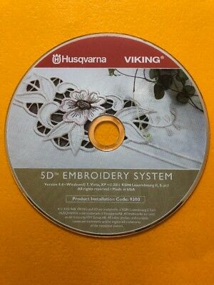 Husqvarna Viking 5D EmbroiderySystem Replacement CD