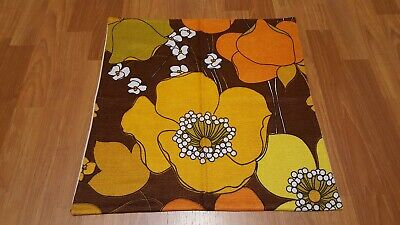 Awesome RARE Vintage Mid Century retro 70s 60s brn gold floral pillowcase fabric
