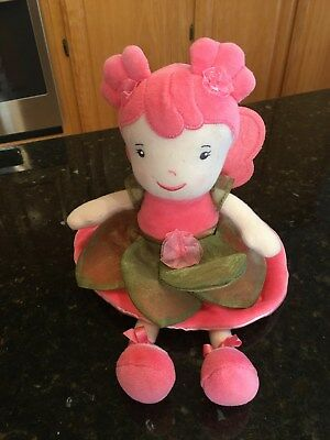 Anne Geddes Beginnings Plush Baby Fairy Princess Doll Coral Pink