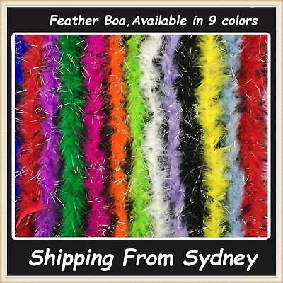 Feather Boa Strip Fluffy Scarf Costume Dress Up Cosplay Dance Party Decor 1.8m A