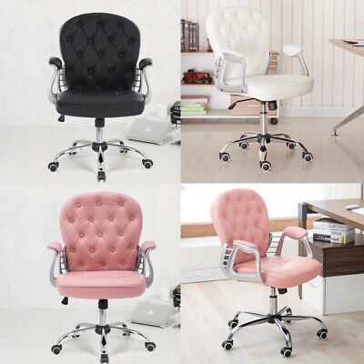 Swivel Chair Upholstered Gaming Midback PU Leather Ergonomic Computer Office