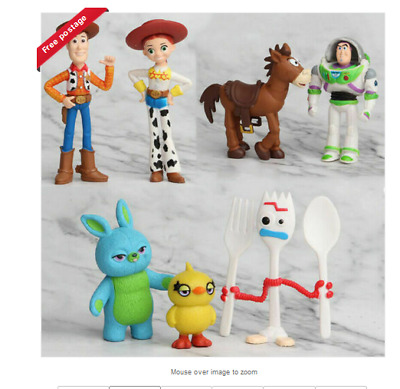 7Pcs Toy Story 4 Woody Jessie Buzz Bunny Ducky Forky Action Figure Kid Model Toy