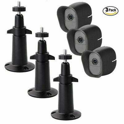 3pcs Wall Mount Bracket + Silicone Case Skin For Arlo Pro/Arlo Pro2 Security CAM