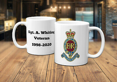 "PERSONALISED Recipient Name11ozs MUG /& COASTER SET Royal Artillery /""The Gunners/"""