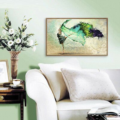 Unframed Modern Abstract Canvas Print Painting Pictures Wall Mural Hanging Decor