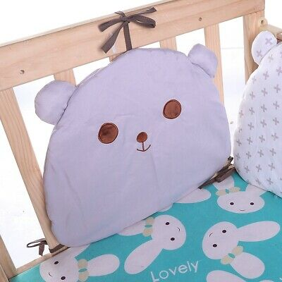 6PCS Baby Crib Breathable Comfy Cotton Infant Toddler Bed Cot Protector