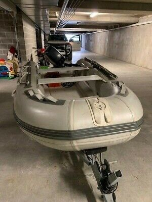 3.0m Aquos Rigid Inflatable Boat and road registered trailer