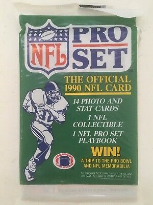 1990 Nfl Pro Set Official Sports Card Collector Unopened Pack Football Players