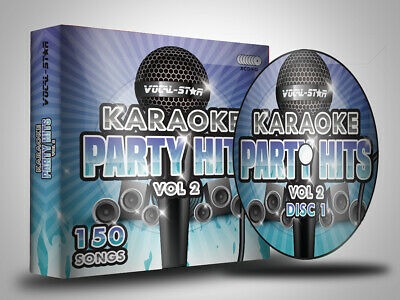 VOCAL-STAR POP PARTY HITS 2 CDG DISC BOX SET - 150 CD+G SONGS - 8 DISCS Karaoke