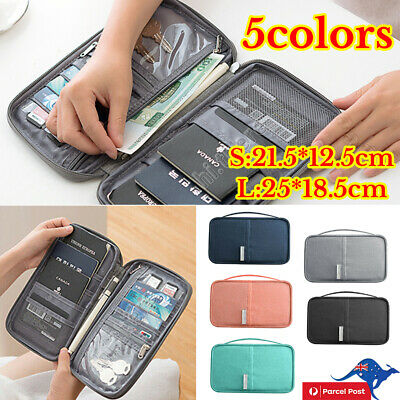 Waterproof Passport Holder Travel Document Wallet Bag Family Case Organizer Bags