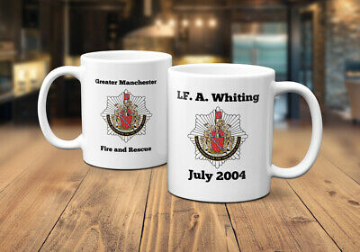 Greater Manchester Fire and Rescue Personalised Coffee/Tea Mug