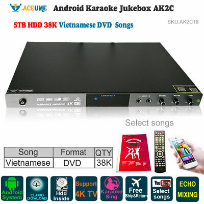 ANDROID KTV-8878E KARAOKE player 4tb harddrive load with