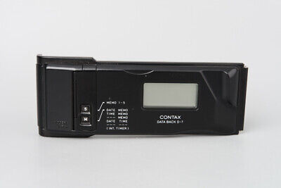 Contax D-7 D7 D 7 Data Back For Contax 167MT SLR Camera, Black #3045