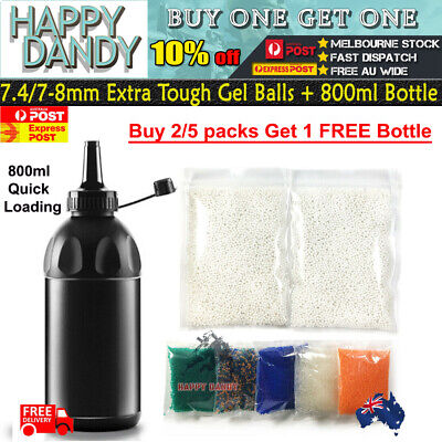 7-8mm 1-50,000/ 7.4 COMP HARDENED 7mm-8mm Milky White Gel Balls Ammo Toy Blaster
