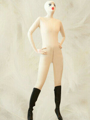 Latex Rubber Gummi Catsuit Kostüm Ganzanzug Weiß Overall/ Zentai Suit Party