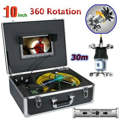 """30M Sewer Pipe Pipeline Drain Inspection Video System 10""""LCD 360 Degree Camera"""
