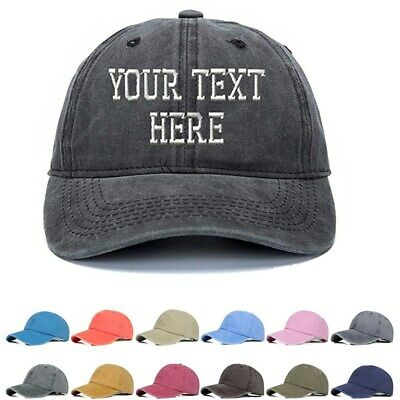 NEW PERSONALIZED CUSTOM Print Your Own Text On A Cap Hat Trucker