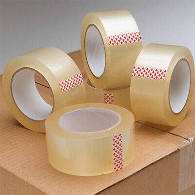 Packing Tape Packaging Clear Adhesive Sticky Tapes 48mm 75M 6 12 24 36 72 Rolls