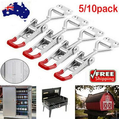 5/10Pcs Latch Catch Stainless Steel Cabinet Boxes Handle Toggle Lock Clamp Hasp