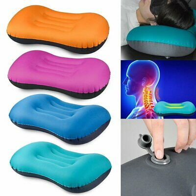 Ultralight Portable Air Inflatable Pillow Outdoor CampingTravel Soft Pillow FO