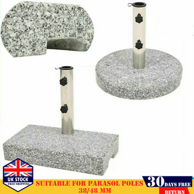 Granite Umbrella Parasol Base Stand Holder Outdoor Garden Heavy Duty 20/25kg NEW