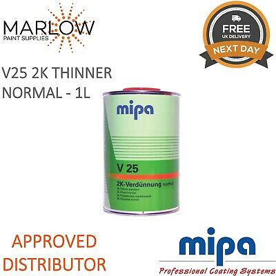 Mipa 271010000 V25 Normal 2K Thinner Reducer 1Ltr *Next Day Delivery*