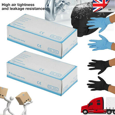 200/500/1000X Black/Blue Nitrile Powder&Latex Free Disposable Industrial Gloves