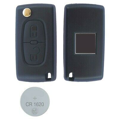 01A Fits Peugeot 307 2 Button REMOTE Control KEY FOB Shell Case + battery CE0536