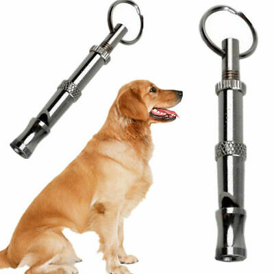 Dog Puppy Whistle Training Ultrasonic Pitch Sound Adjustable Silent Key UK