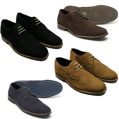 Brand New Mens Lucini Smart Casual Lace Up Suede Leather Shoes UK Sizes 6-12