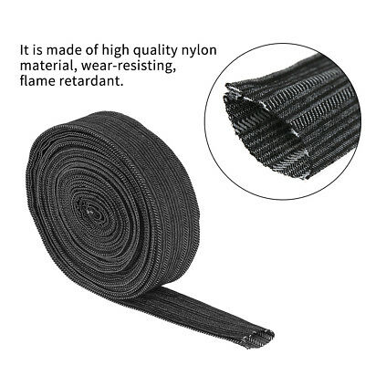 25' Nylon Protective Sleeve Sheath Cable Cover Welding Tig Torch Hydraulic Hose