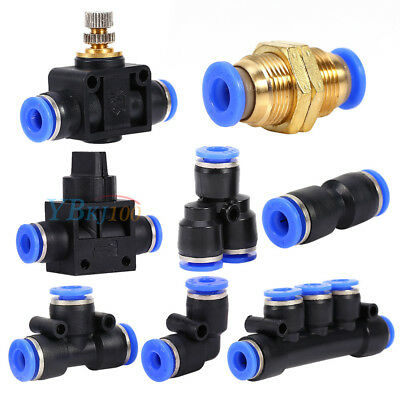 Various Pneumatic Fittings Air Valve Water Hose Tube Pipe Connector Joiner NEW