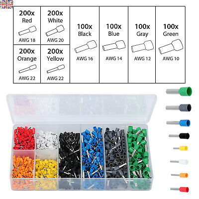 1200X 8Size Electrical Cable Wire Connectors Assorted Insulated Crimp Terminals