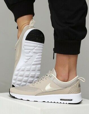 Details zu Nike Womens Air Max Thea Premium UK 4 Metallic Gold White 616723 903