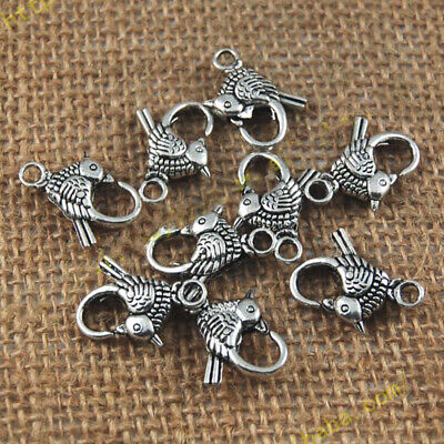 10x Metal Alloy Bird Lobster Clasps Claw Hook Key Ring Keyring Buckle Accessory