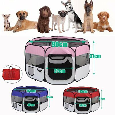 8 Panel Portable Puppy Dog Pet Cat Playpen Crate Cage Kennel Tent Play TGB