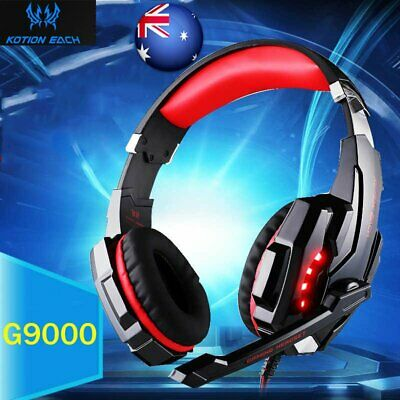 3.5mm+USB Single Hole Gaming Headset MIC LED Headphone Music Surround Earphone