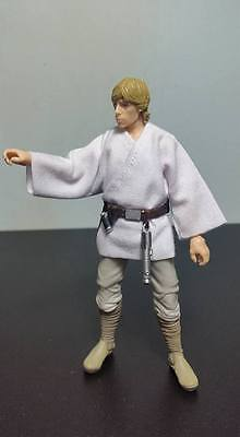 "Custom WHITE Tunic for Star Wars 6"" Black Series ANH Luke Skywalker NO FIGURE"