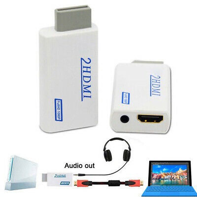3.5mm Audio Output Jack for Wii to HDMI Full HD 1080P Video Converter Adapter