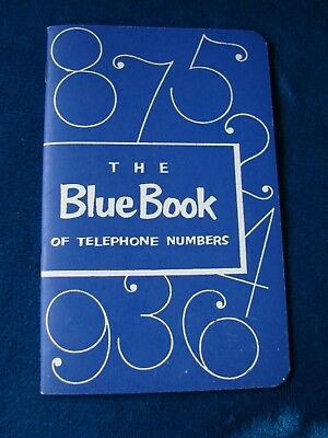 Vintage BLUE BOOK OF TELEPHONE NUMBERS  - Southern Bell / New Old Stock