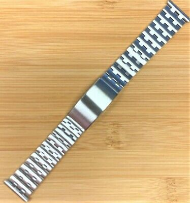 Stelux Stainless Steel Watch Bracelet 520/4 20mm lug width 165mm long NOS