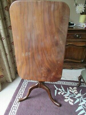 "Victorian flame mahogany tilt top tripod table 19.5"" x 30.5"" vgc collection DE73"