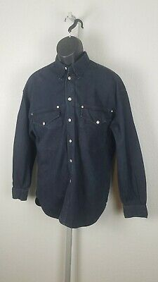 Mens Vintage 90s Versace Shirt Jeans Signature Ittierre Spa Size M Made In Italy