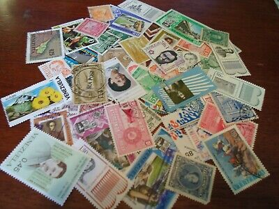 Collection lot 50+ different stamps of Venezuela