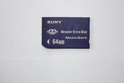 64MB SONY Memory Stick Card Pro Duo PSP Magic Gate.  (not GB)