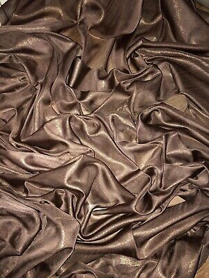 """1 MTR QUALITY YELLOW//GOLD SHIMMER CHIFFON FABRIC...58/"""" WIDE £2.49"""
