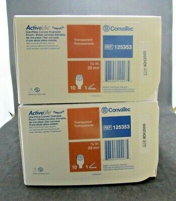 Convatec 125353 ActiveLife One-Piece Convex Drainable Pouch Lot of 20 NEW